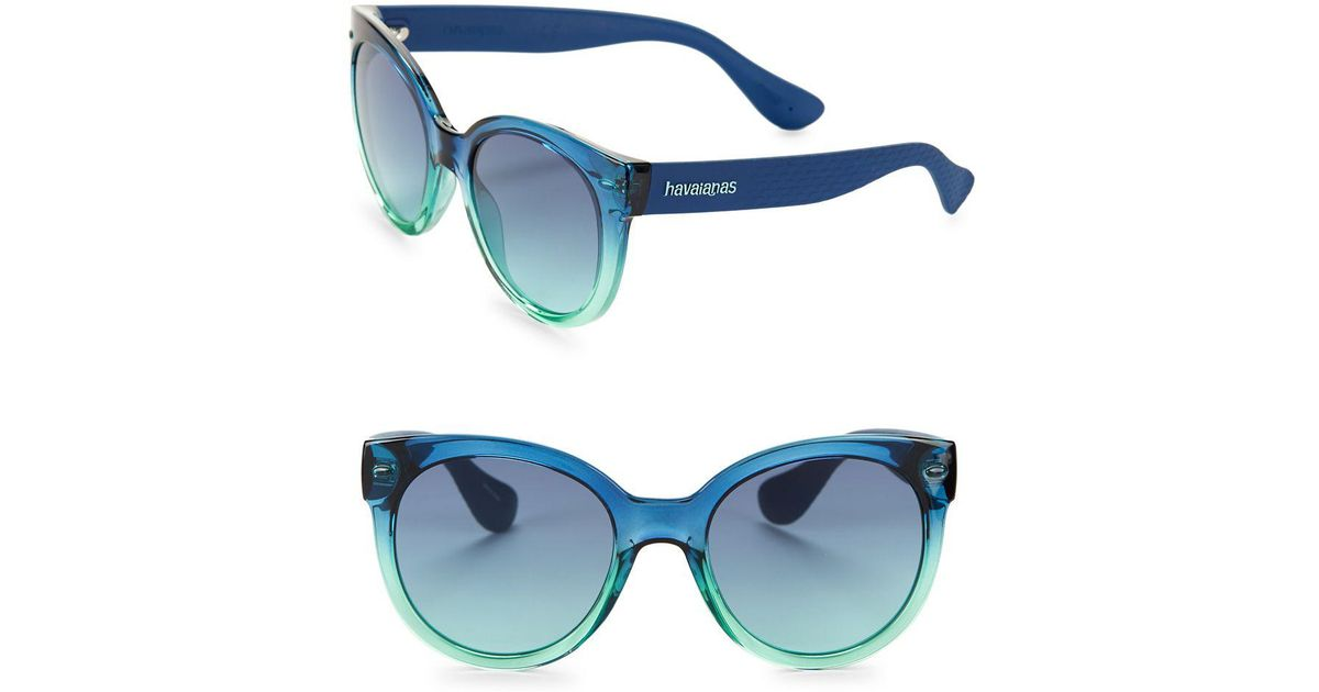 Havaianas Noronha 52mm Round Sunglasses in Blue - Lyst 44e3c099af58