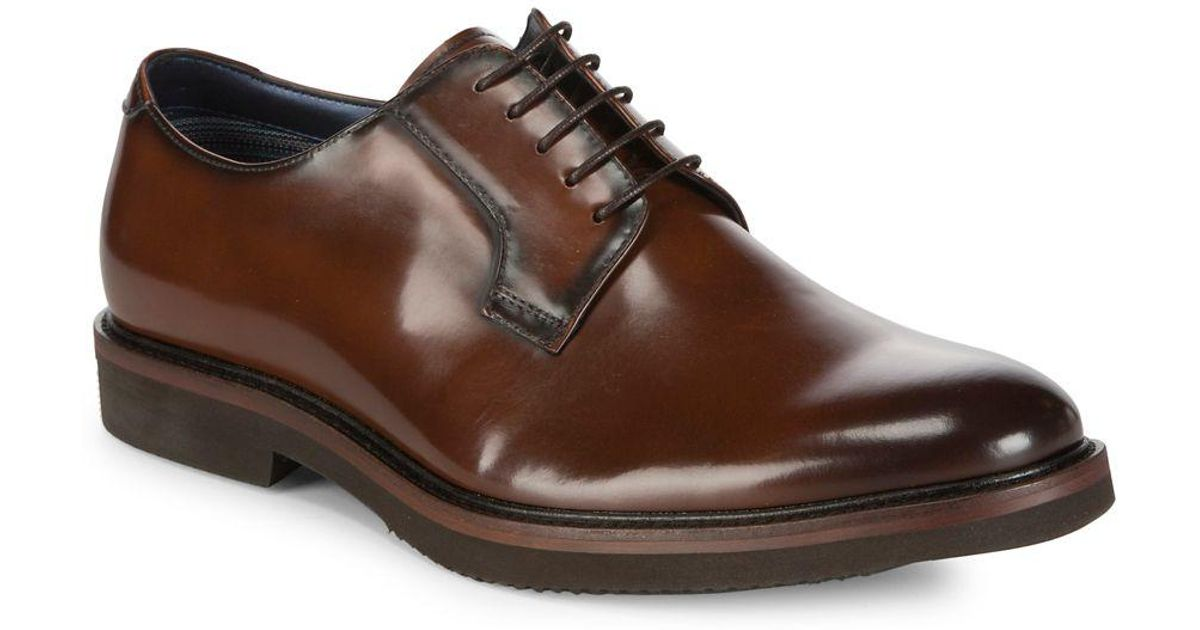 90368da6c41 Steve Madden - Brown Drama Patent Leather Derby Shoes for Men - Lyst