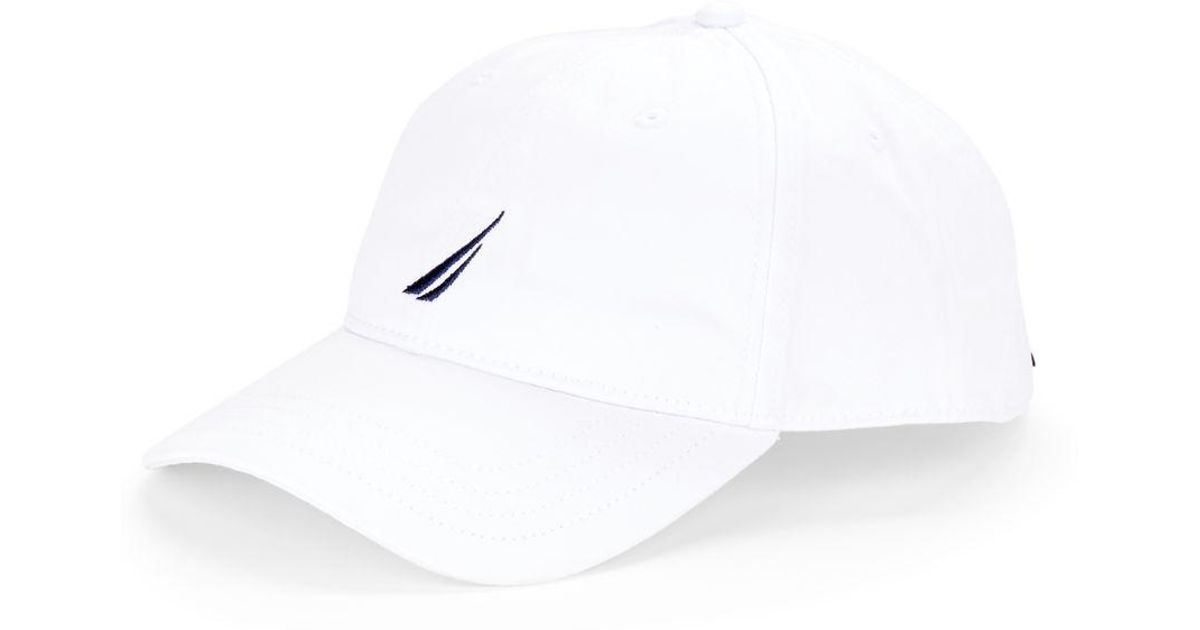 74d295503d293 Lyst - Nautica Logo-embroidered Baseball Hat in White for Men