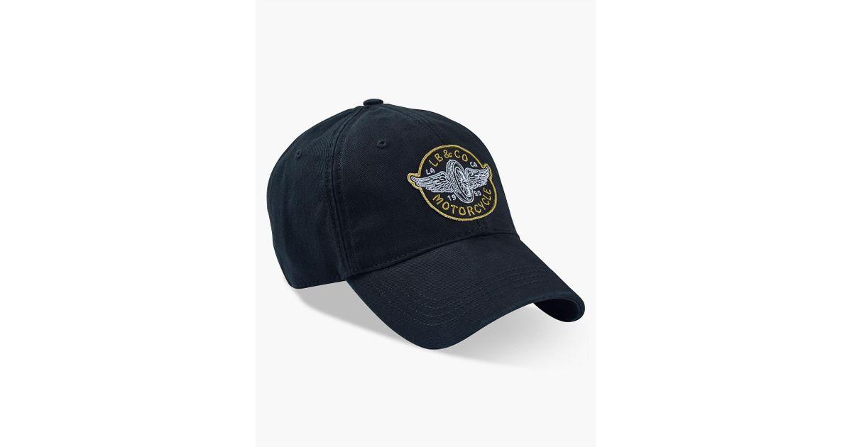 Lyst - Lucky Brand Moto Patch Baseball Hat in Black for Men e043a2e82fe8