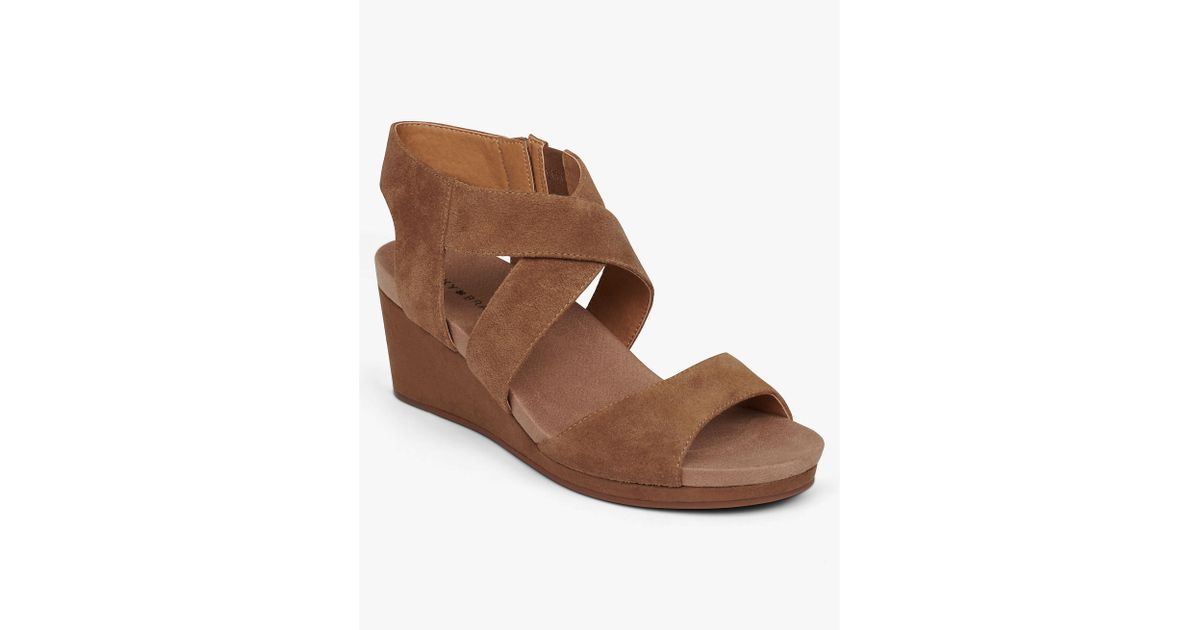7269217c04 Lyst - Lucky Brand Kakina Wedge in Brown