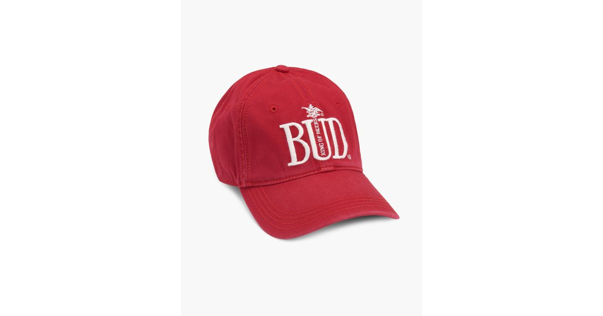 102af2ade3292 Lyst - Lucky Brand Budweiser Baseball Hat in Red for Men