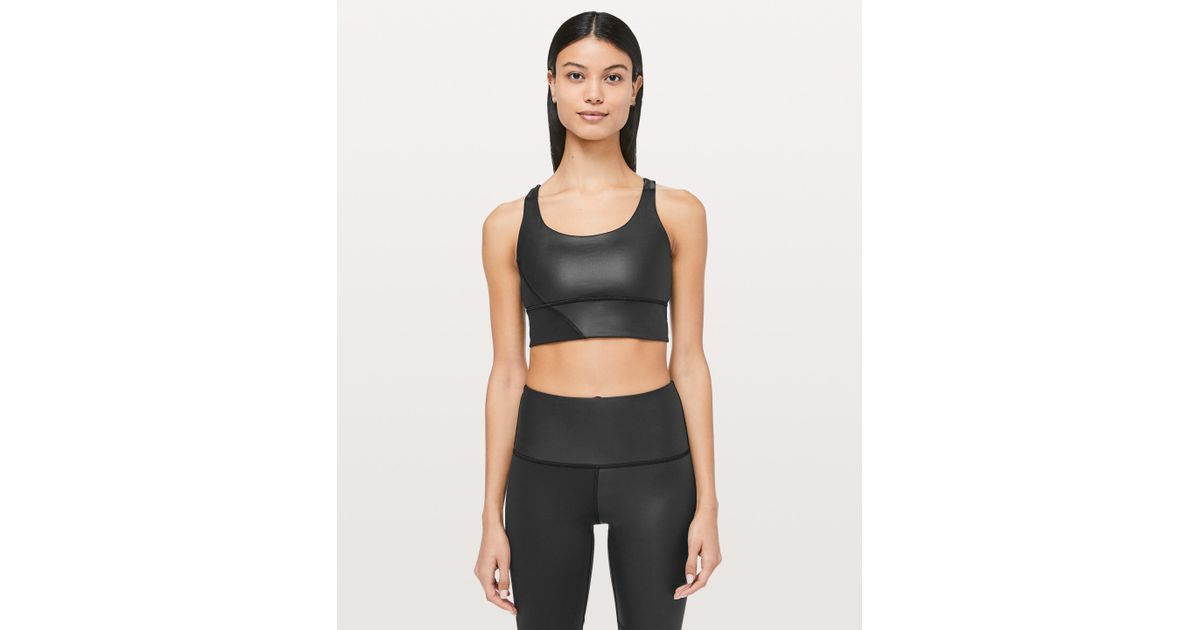 ccd98a5e3a8b1 Lyst - lululemon athletica Energy Bra Long Line Special Edition Cire in  Black