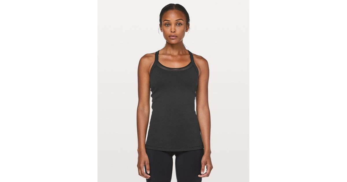 fa14775b8caf5 Lululemon athletica rally your heart tank in black lyst jpeg 1200x630  Lululemon cross your heart tank