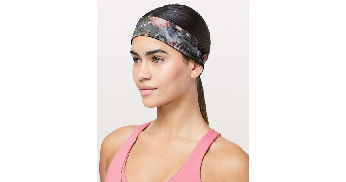 Lyst - lululemon athletica Fly Away Tamer Headband Ii 3af10287332