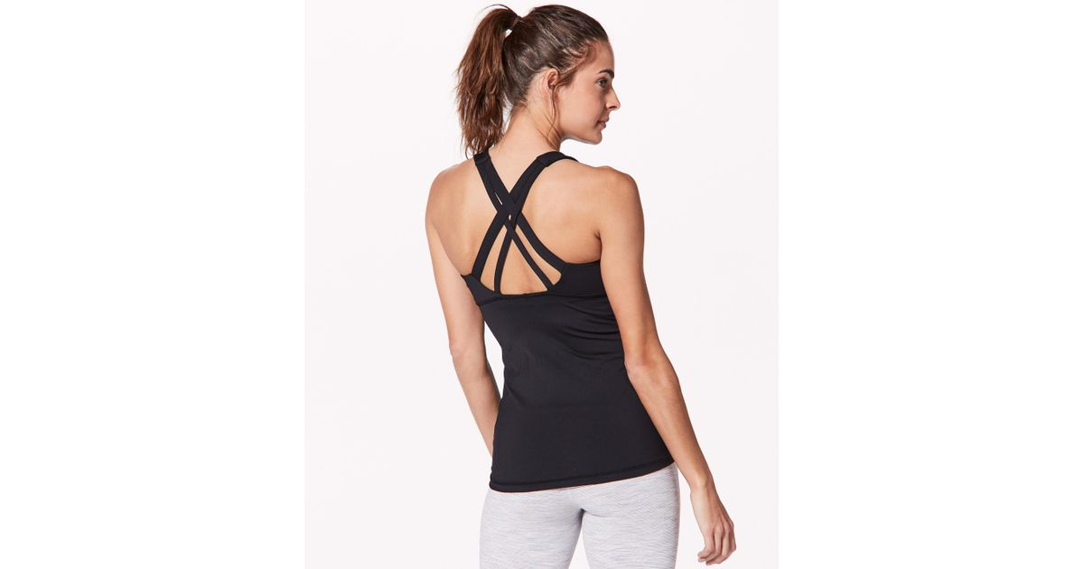 7ed66e858c Lyst - lululemon athletica Stash N  Run Tank  medium Support For B c Cup in  Black