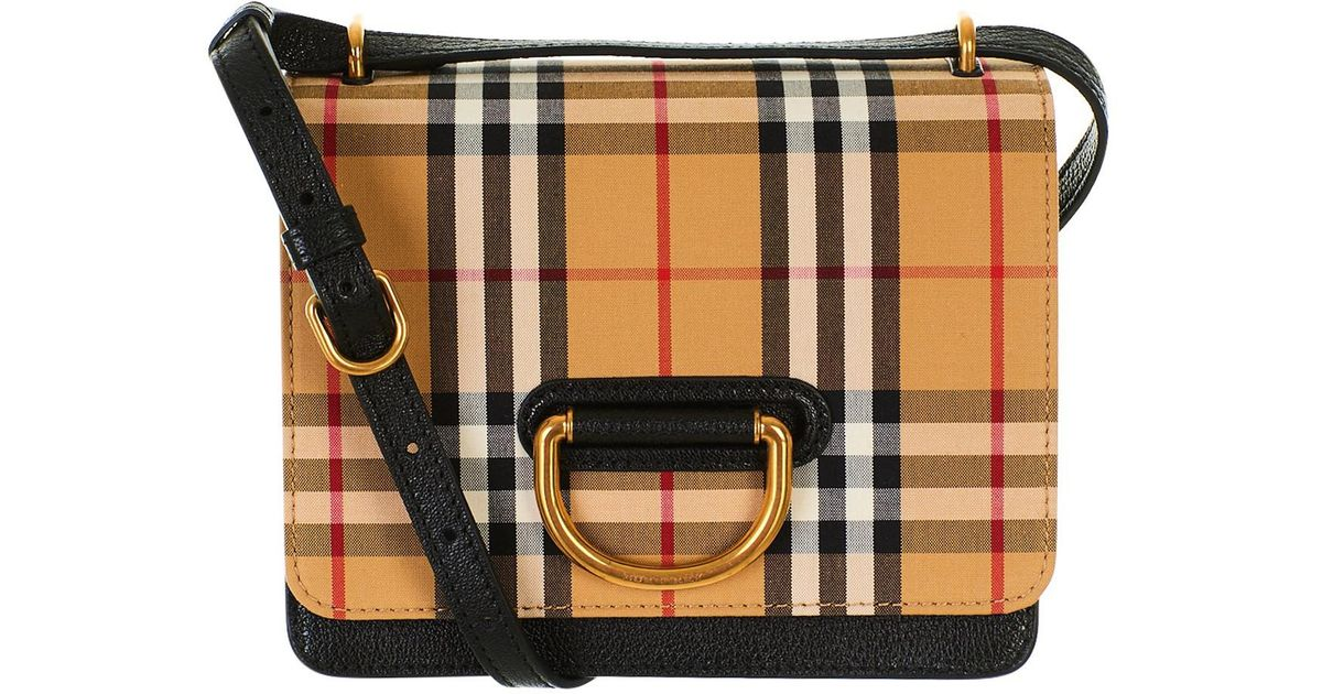 90b13bb7c525 Lyst - Burberry Black And Brown Bag in Black