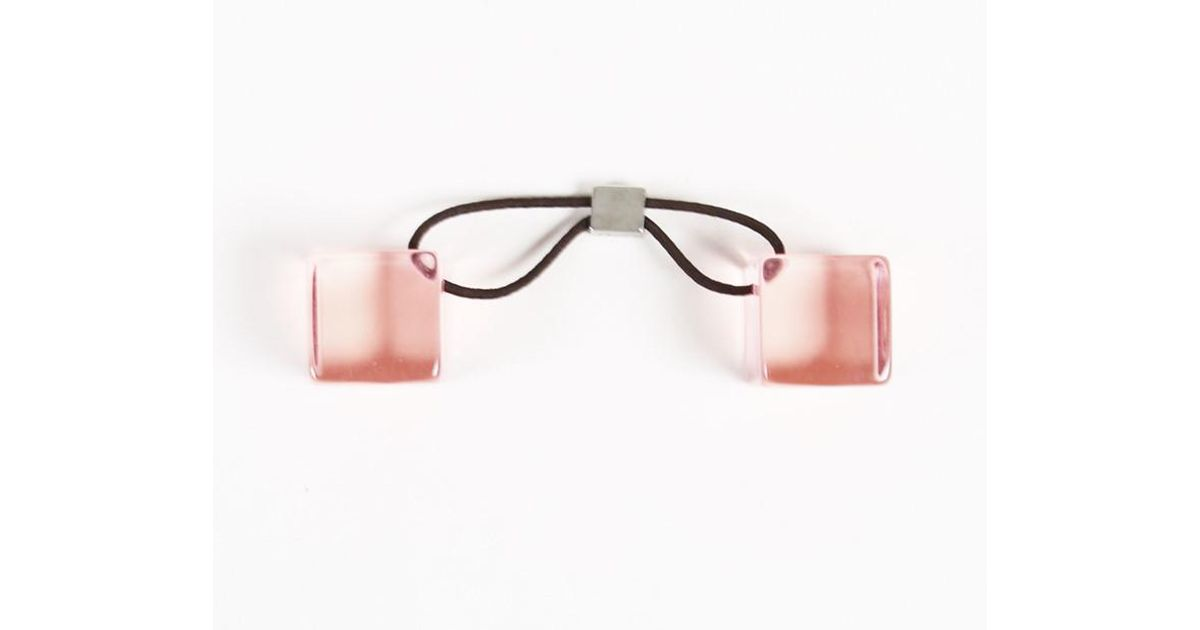 Lyst - Louis Vuitton Pink Acrylic Logo Double Cube Hair Tie in Pink cd59e07d751