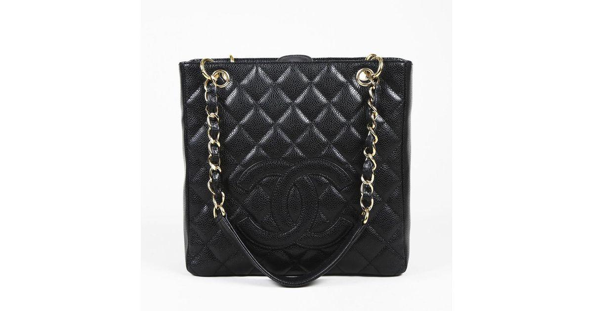 e6af6e428 Chanel Black Quilted