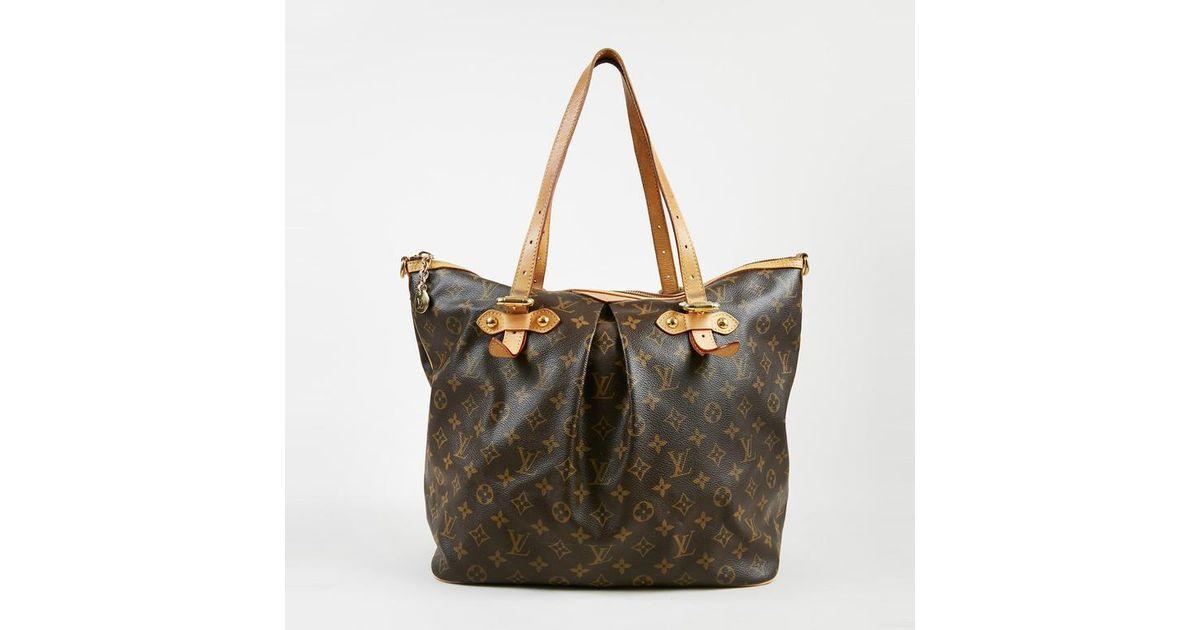 5e9c3c6efa6d Lyst - Louis Vuitton Brown Monogram Canvas   Leather