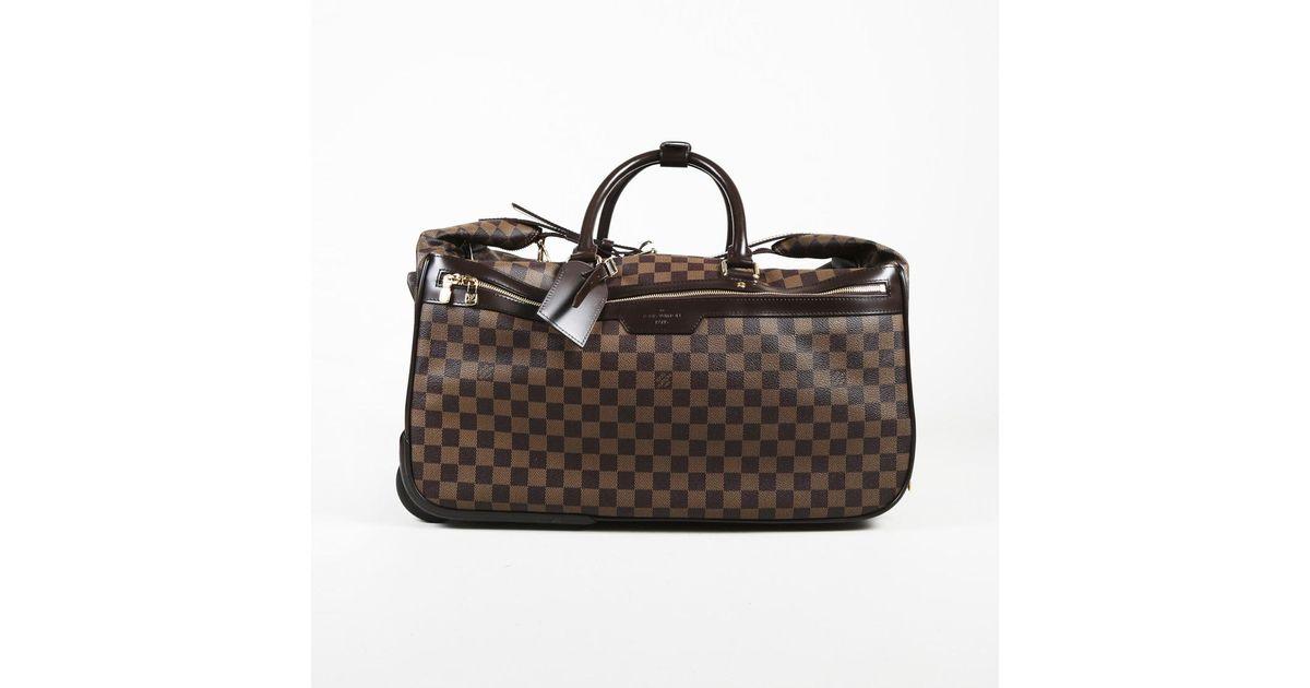 3ad5875a84771 Lyst - Louis Vuitton Damier Canvas   Leather