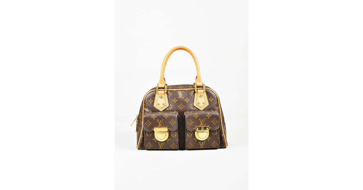 8f0a7a2a4bc6 Lyst - Louis Vuitton Brown Monogram Coated Canvas