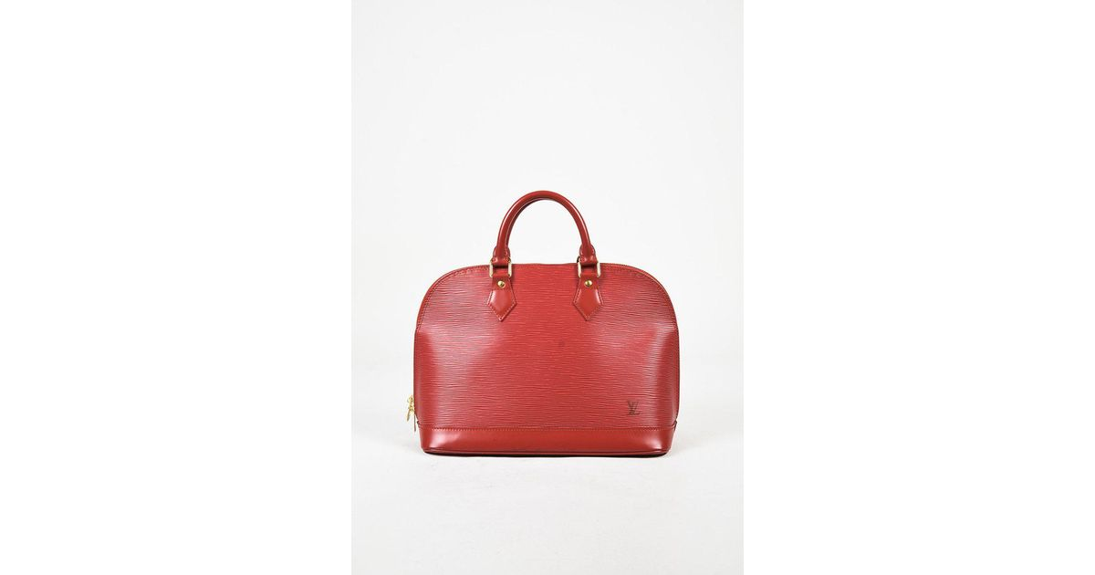 Lyst - Louis Vuitton Red Epi Leather Top Handle