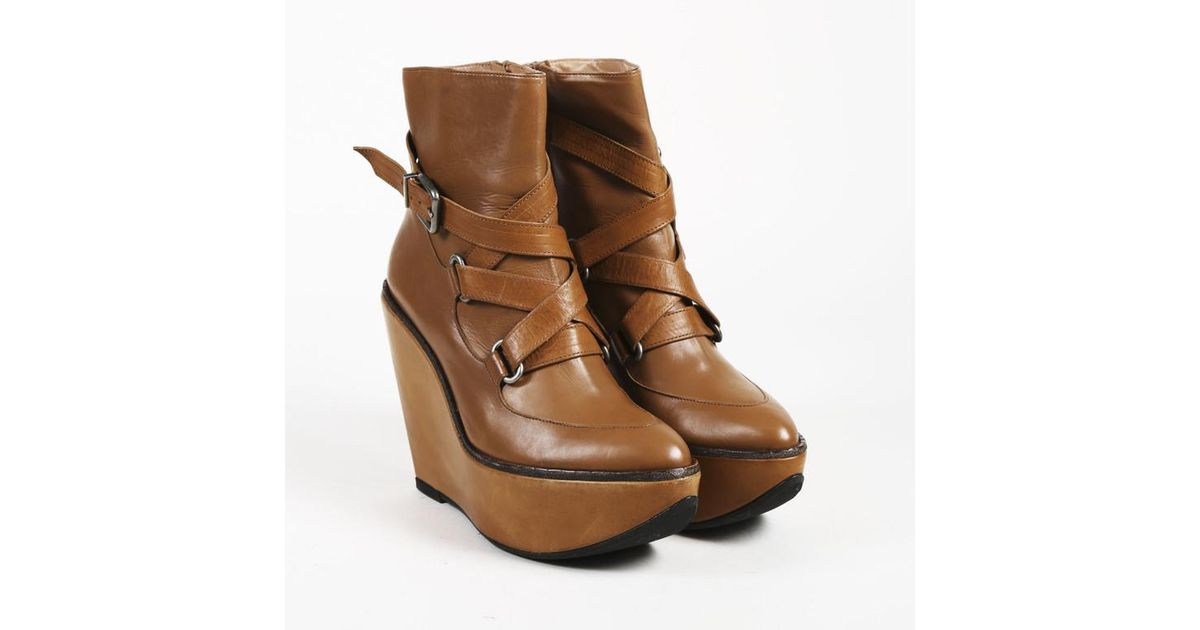 1fa2e04a03c91 Robert Clergerie Brown Leather