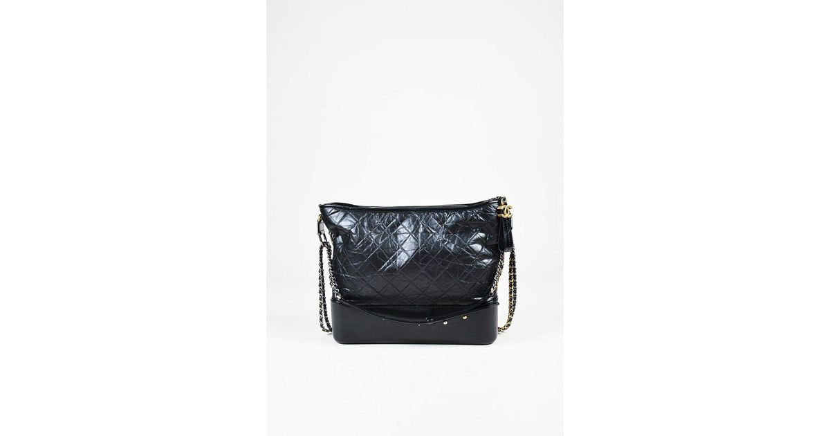 027a52e9d18a Chanel Black Quilted Aged Calfskin Leather