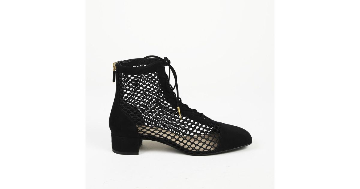 50c211ca9 Lyst - Dior Dior 2018 Naughtily Resille Ankle Boots in Black
