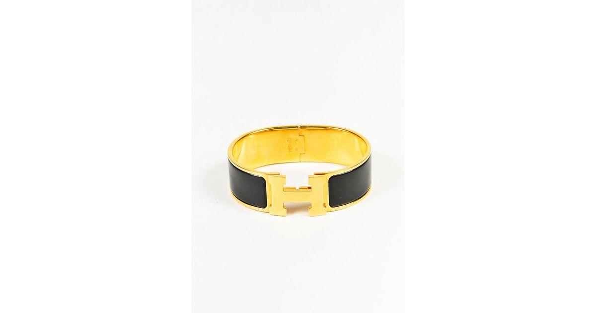 713398610cb Hermès Black Gold Plated & Enameled