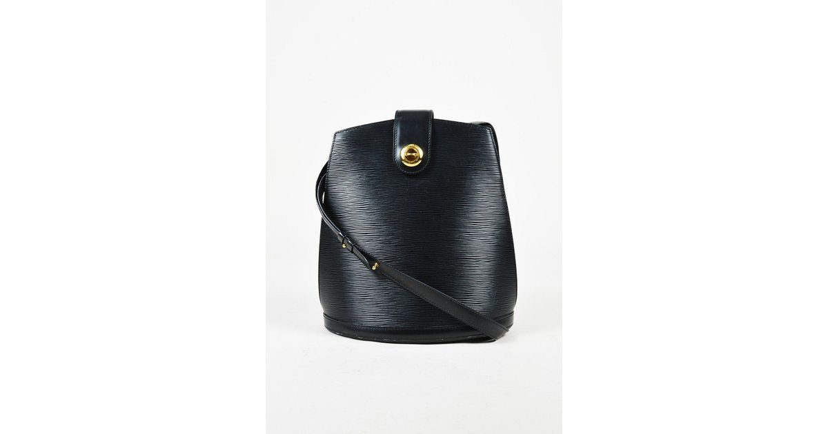1ec923d5abd5 Lyst - Louis Vuitton Vintage 1996 Black Epi Leather