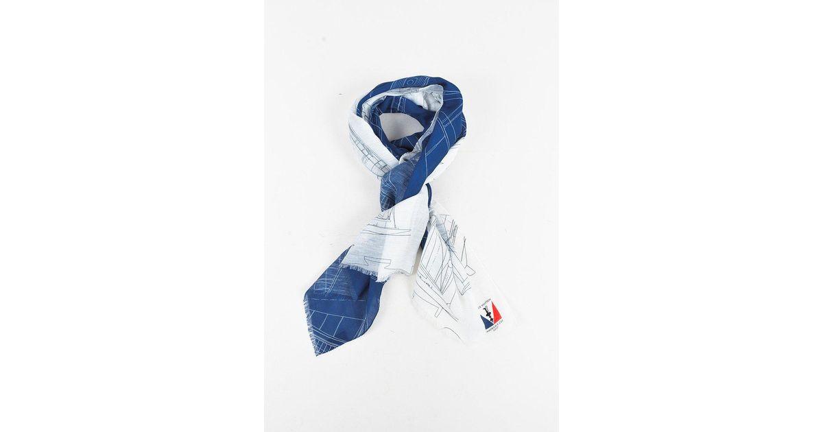Lyst Louis Vuitton Americas Cup 2017 Blue White Cotton Linen