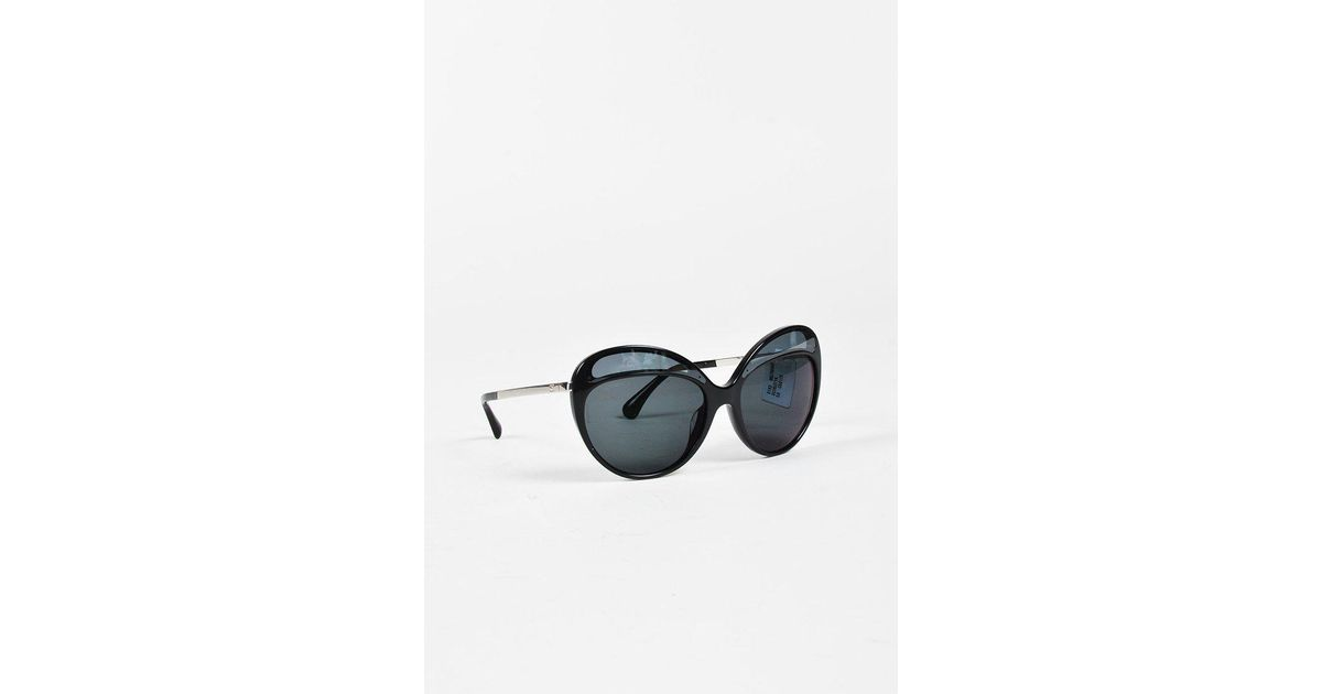473d2837527f Chanel Round Oversized Black Sunglasses - The Best Picture Glasses ...