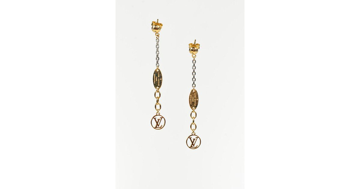 93e868100c5 Lyst - Louis Vuitton Gold Plated  lv  Monogram