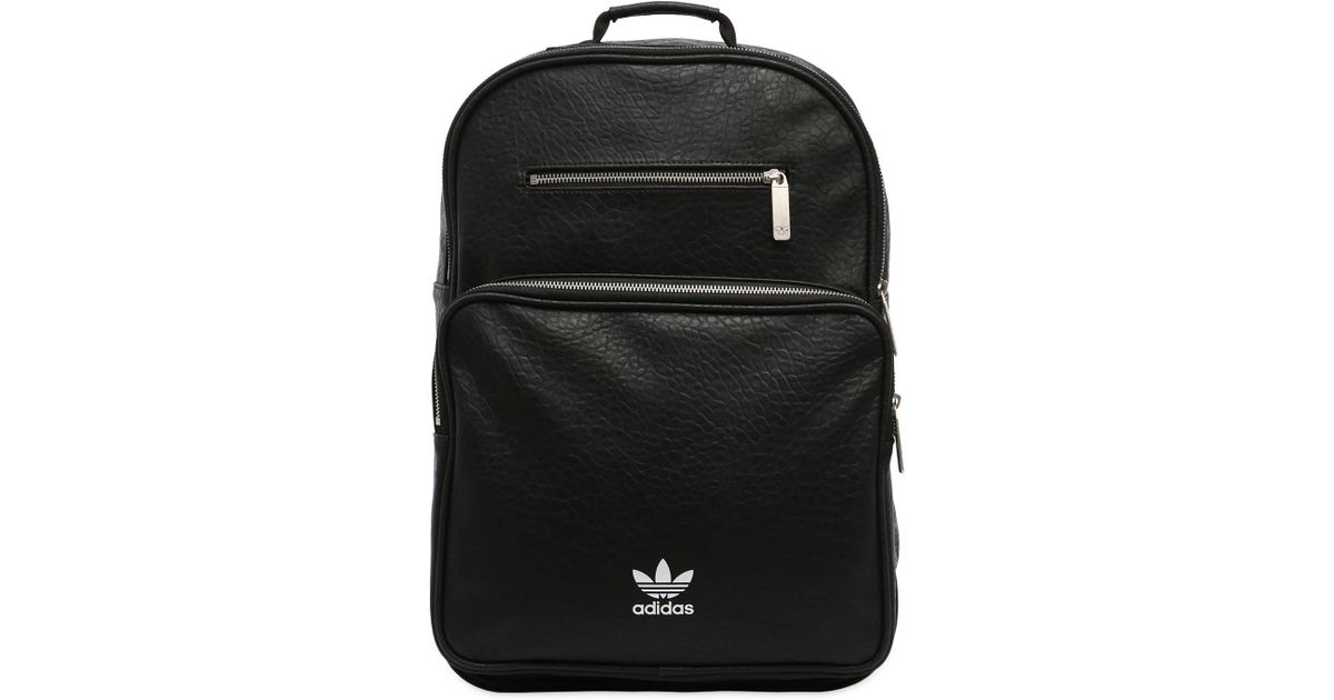 Lyst - adidas Originals Ac F Bp Classic Faux Leather Backpack in Black
