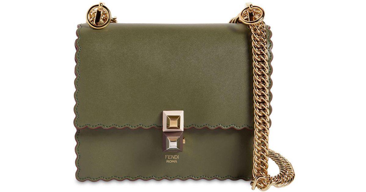 Lyst - Mini sac porté épaule en cuir Fendi en coloris Vert -  6.711409395973149 % de réduction 291d28ca1b6