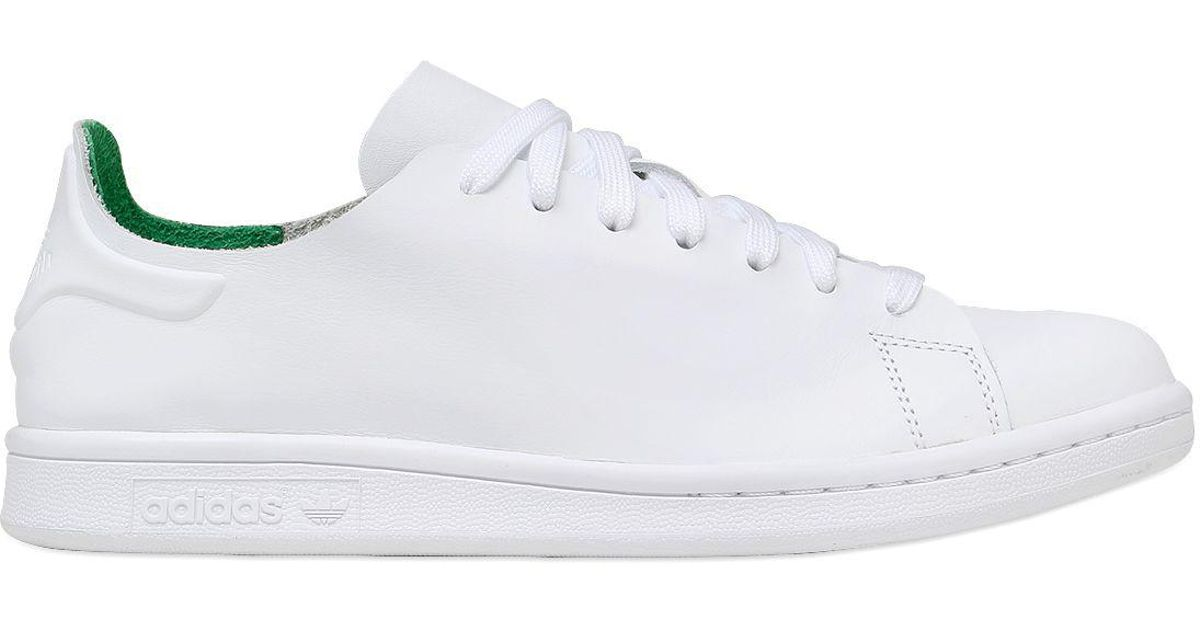 0ccb904a4f68 Lyst - adidas Originals Stan Smith Nude Leather Sneakers in White for Men