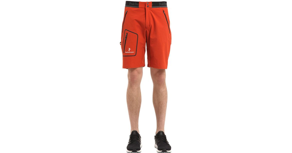 12c15d5308 Peak Performance Bl Lite Softshell Climbing Shorts in Red for Men - Lyst