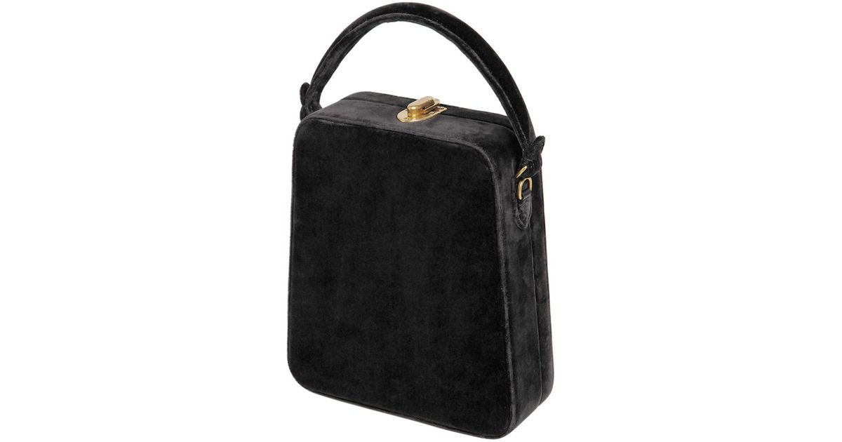Bertoni 1949 TALL BERTONCINA VELVET TOP HANDLE BAG ICYwg4ez