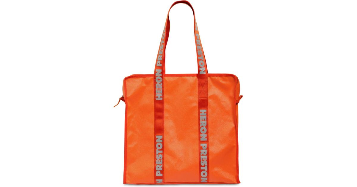 c58953b2d508b8 Heron Preston Tote Bag W/ Logo Handles in Orange - Lyst