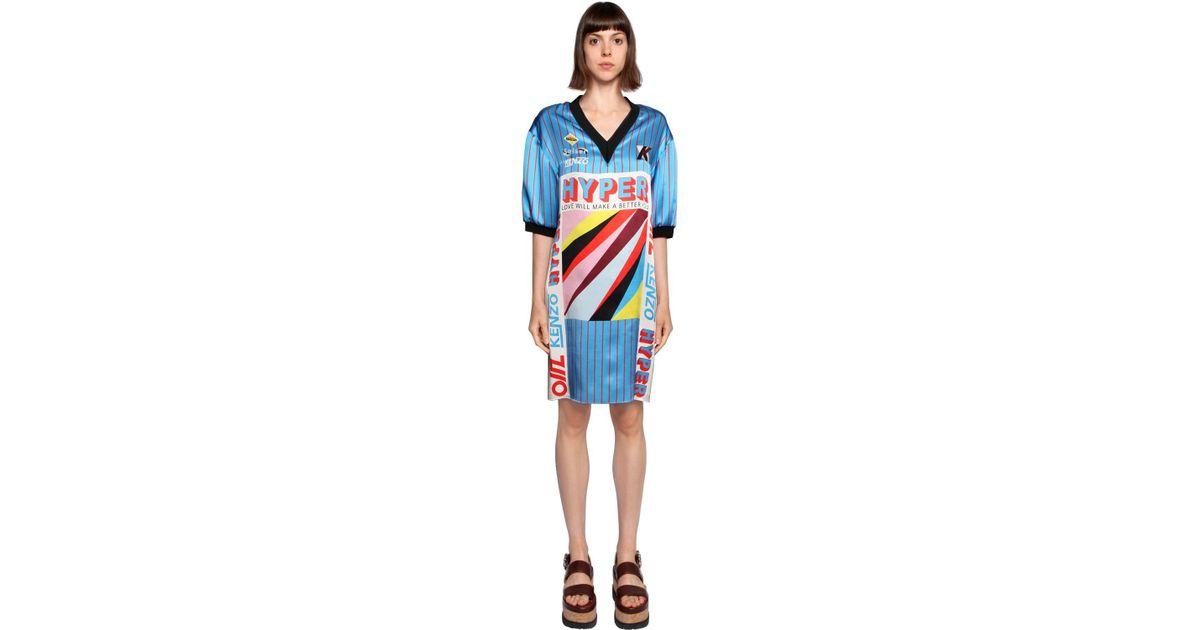 2b9bfe25 KENZO Short Dress in Blue - Save 60% - Lyst
