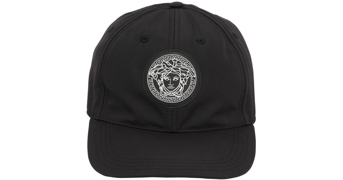 7b52c67f Versace Medusa Nylon Baseball Hat in Black for Men - Lyst