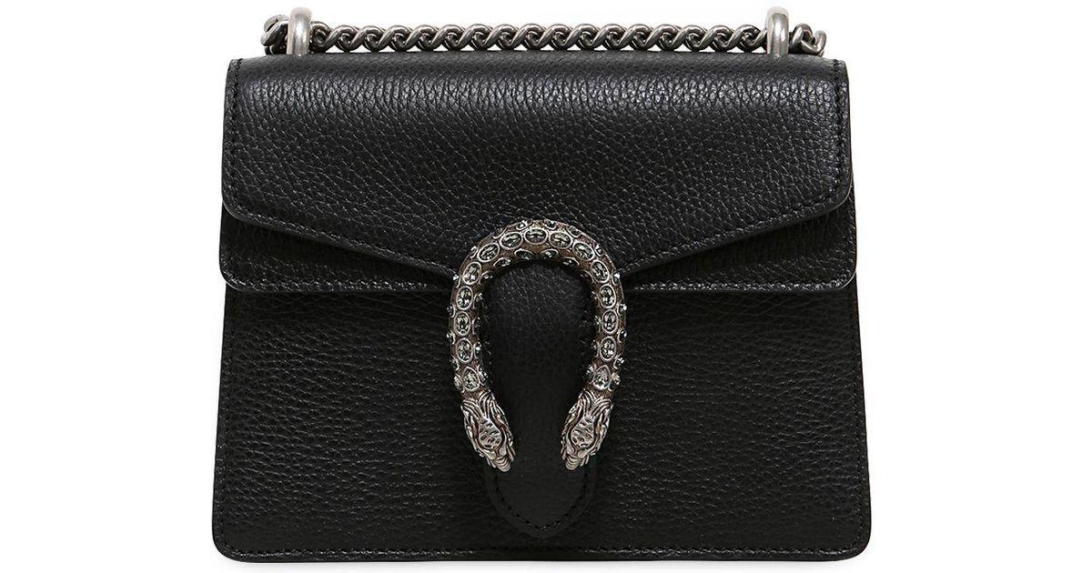 e6714646834 Lyst - Gucci Mini Dionysus Bag W  Swarovski Buckle in Black