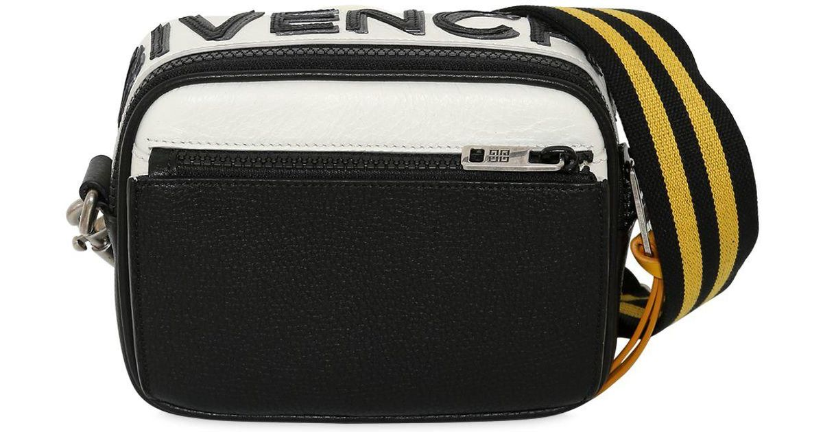 8404ce7cc0a Givenchy Reverse Logo Leather Crossbody Bag in Black for Men - Lyst