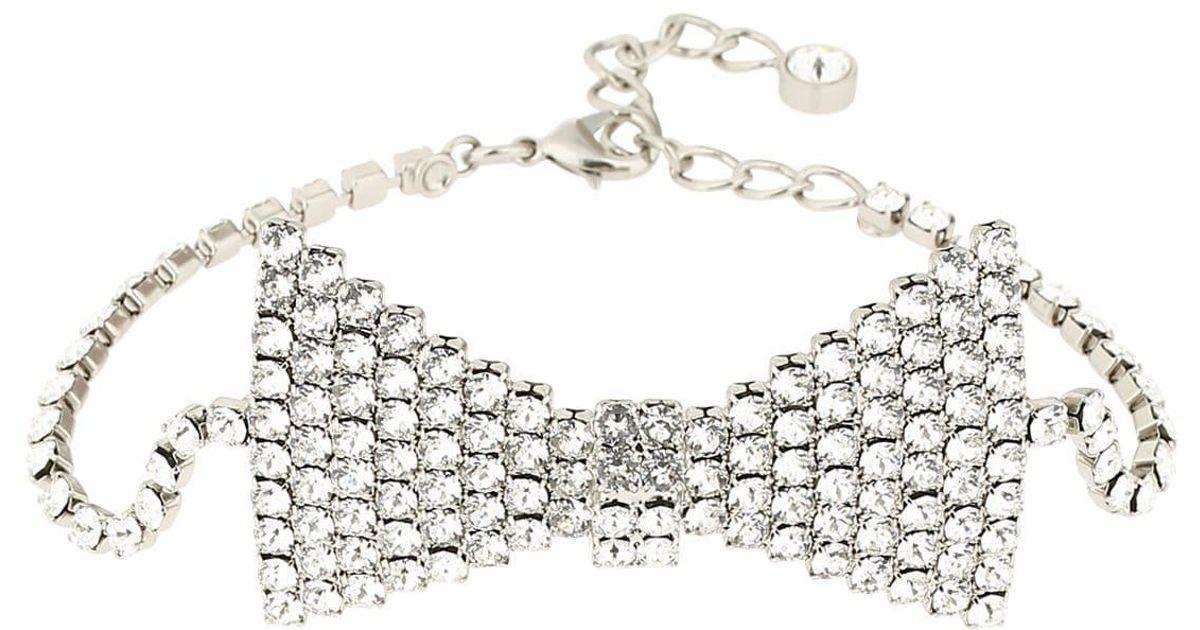 9f124f8b980e5 KATE CATE - Metallic Swarovski Crystal & Chain Bowtie Belt - Lyst