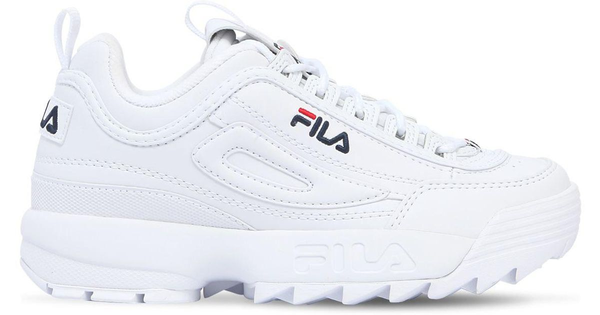 d0a765762a80 Lyst - Fila Disruptor Faux Leather Platform Sneakers in White