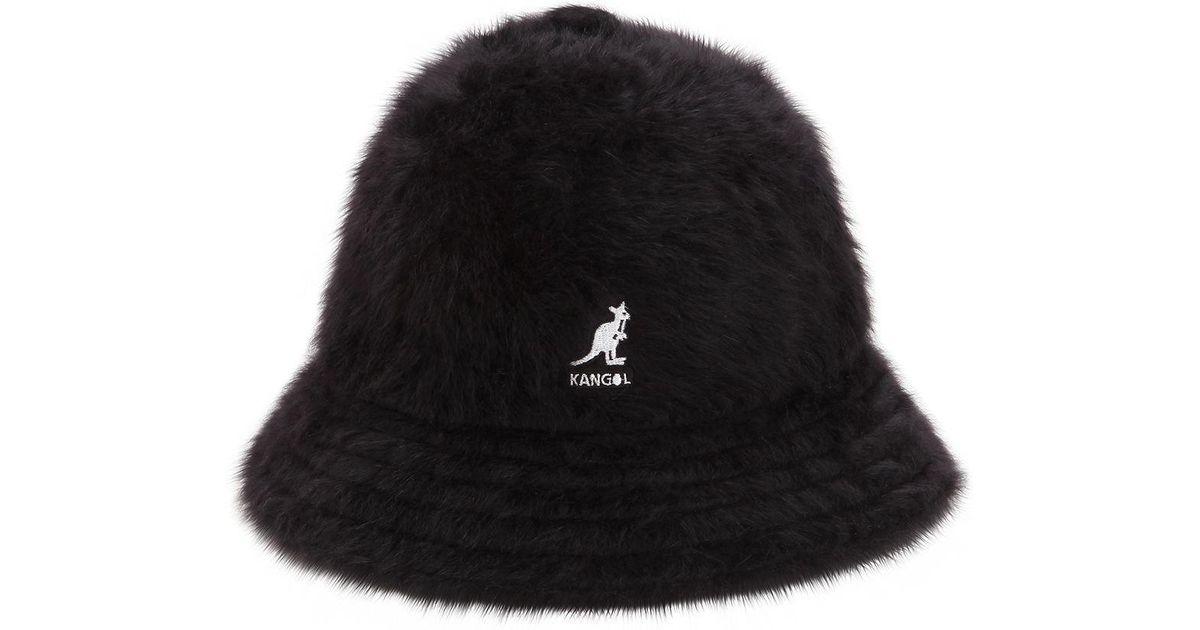 Kangol Furgora Casual Angora Blend Bucket Hat in Black - Lyst 9eb0d4fcffe