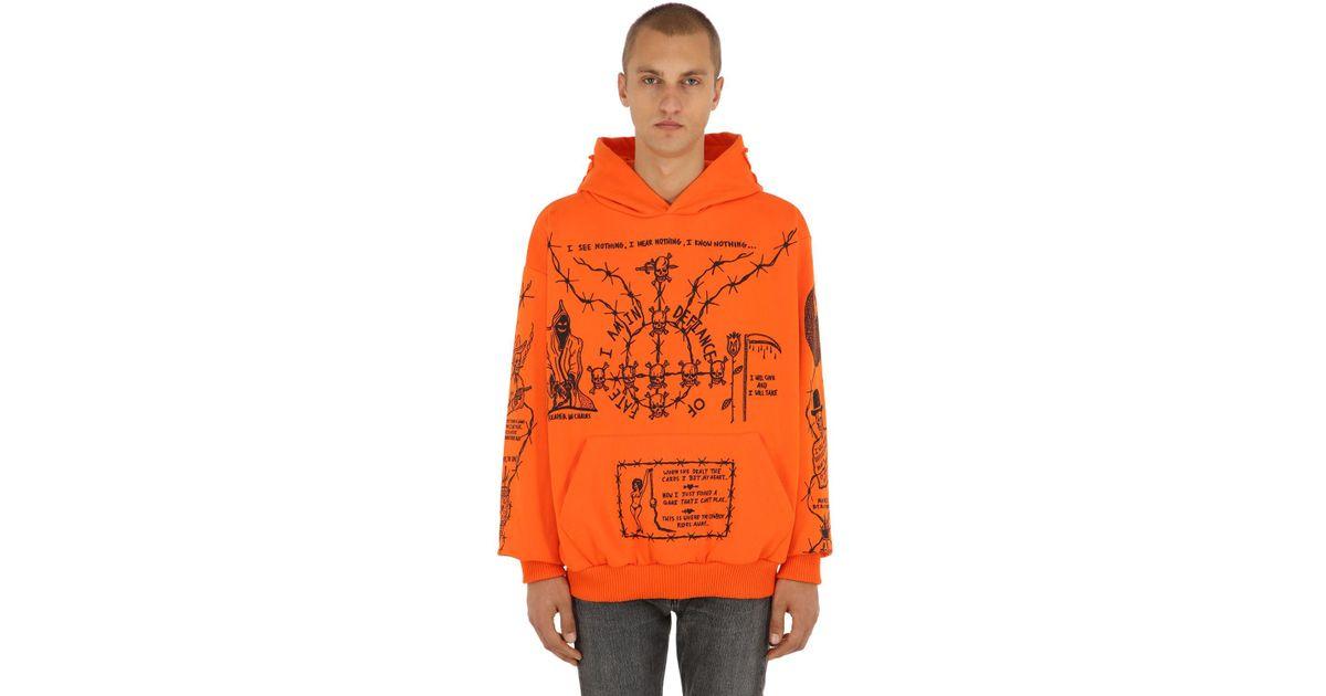 165300d3b62 Warren Lotas Oversized Sabata Sweatshirt Hoodie in Orange for Men - Save  49% - Lyst