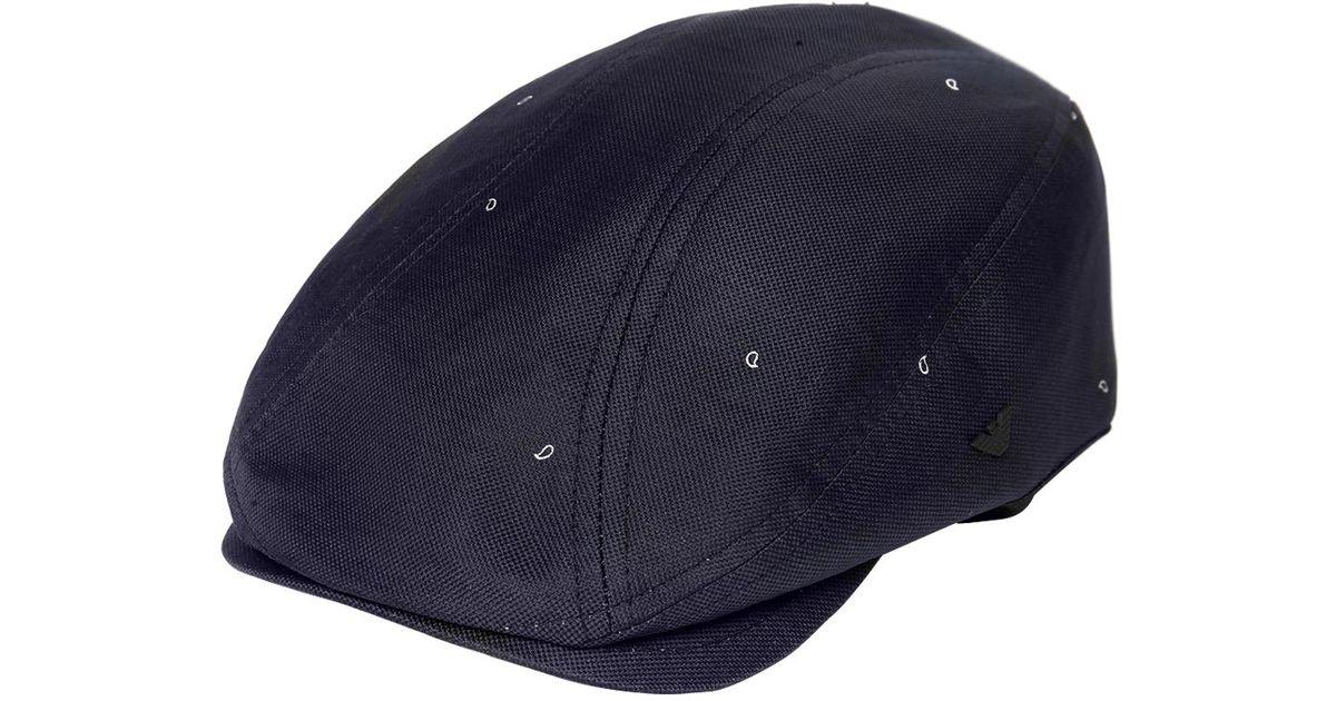cdf5c52e71f74 Emporio Armani Paisley Jacquard Flat Cap in Blue for Men - Lyst