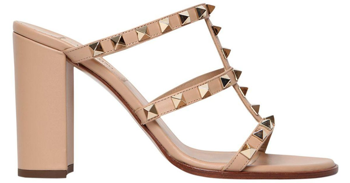 6426d66b9e7 Lyst - Valentino 90mm Rockstud Leather Sandals