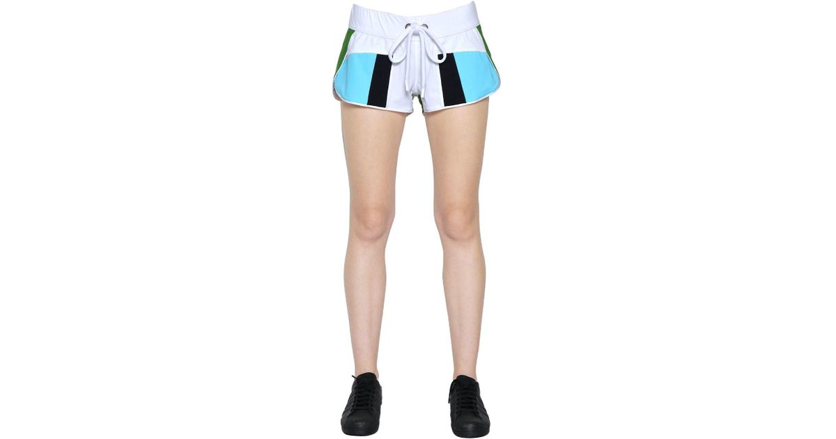 Haku paneled microfiber shorts No Ka'Oi SxzhgQC0ks