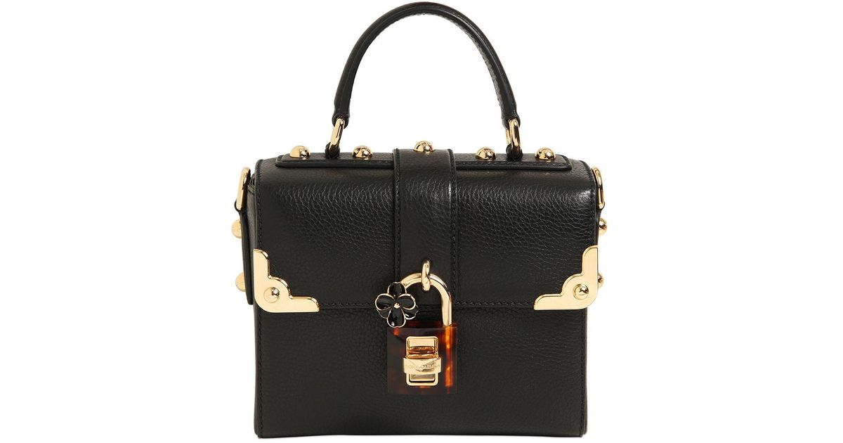 0a8bdd3134 Lyst - Dolce   Gabbana Dolce Soft Leather Top Handle Bag in Black