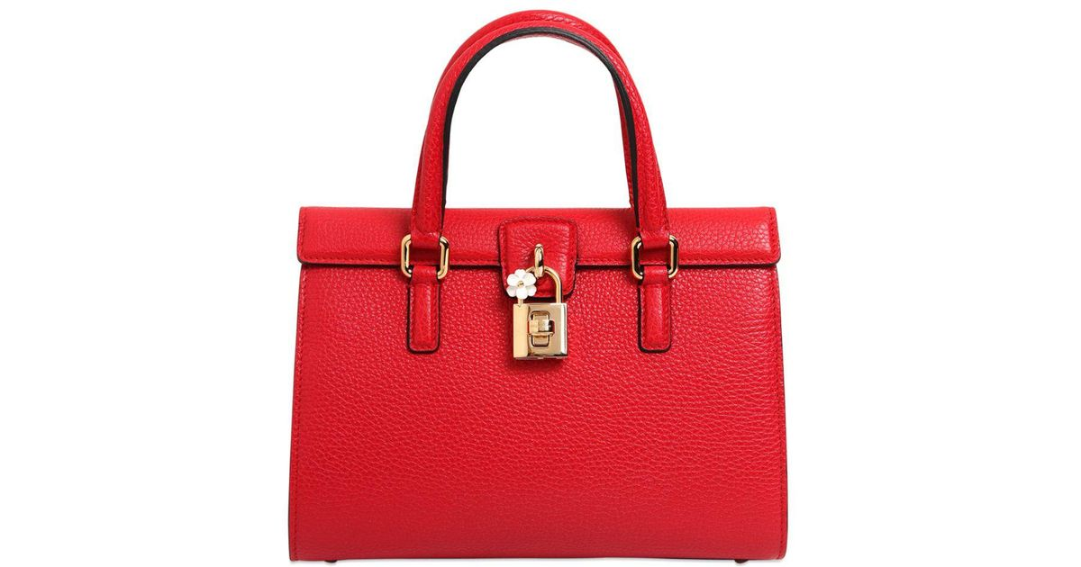 8665bb8709 Dolce & Gabbana Dolce Lady Grained Leather Bag in Red - Lyst