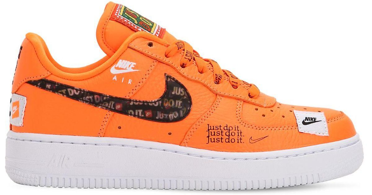 366c38944907 Lyst - Nike Air Force 1 Just Do It Sneakers in Orange for Men