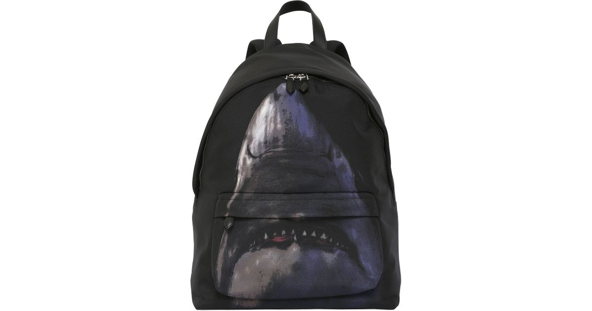 Lyst - Givenchy Shark Print On Nylon Cordura Backpack in Black for Men aa628d012ee14