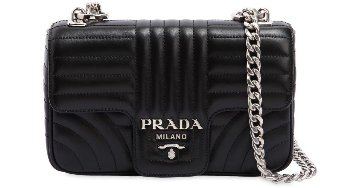 7d73f7f6dae6 Prada Small Quilted Soft Leather Shoulder Bag in Black - Lyst
