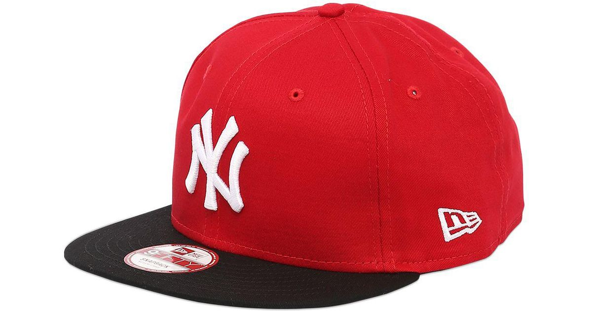Ktz 9fifty Two Tone Mlb New York Yankees Hat in Red for Men  65a01bead87