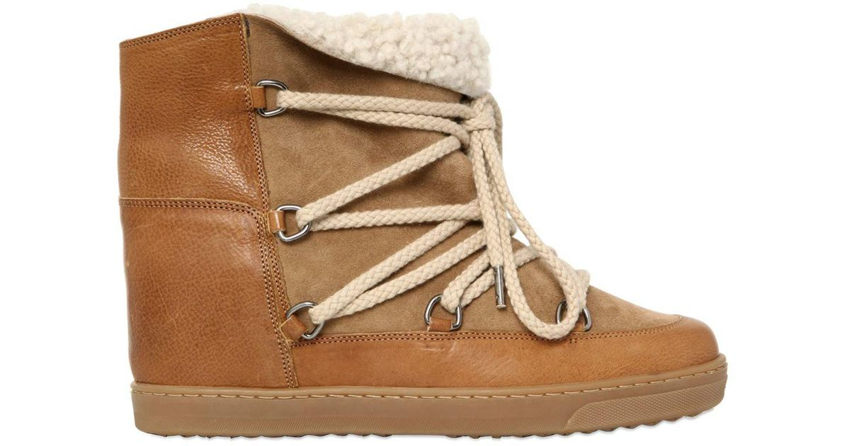 Isabel Marant 70MM NOWLES SHEARLING WEDGED sCvaxYLig