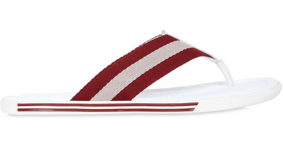 1326d684863f Lyst - Bally Rubber Sandals W  Web Strap in White for Men